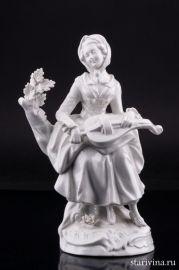 Девушка с колесной лирой, Дрезден, Германия, пер. пол. 20 в., артикул 01869