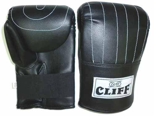 Перчатки  снарядные CLIFF,  кожа, чёрные