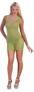 Платье-сетка зеленое