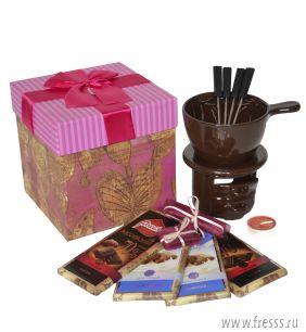 """Подарочный набор """"Шоколадный фондю"""", розовый"""