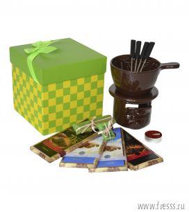"""Подарочный набор """"Шоколадный фондю"""", зеленый"""