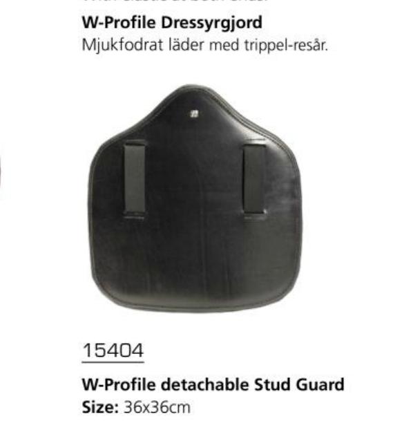 """Фартук для конкура """"W-Profile"""" Кожа. Резинки. 36х36 см"""