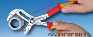 """Ключ """"КОБРА"""" высокотехнологичные сантехнические клещи электроизолированные VDE 1000V 250 mm KNIPEX 87 26 250"""