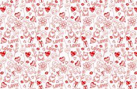 Водорастворимая бумага с рисунком Сердечки (фон) 216х139мм