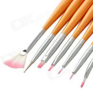 Кисти для художественного дизайна ногтей, набор 7 штук.