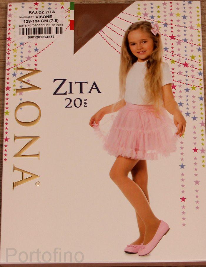 Zita однотонные детские колготки Mona 20 DEN