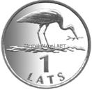 Латвия 1 лат 2001 Аист