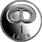 Латвия 1 лат 2005 Крендель