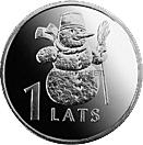 Латвия 1 лат 2007 Снеговик
