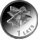 Латвия 1 лат 2012 Рождественские колокольчики