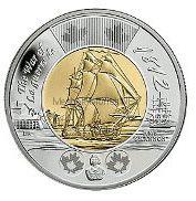 Канада 2 доллара 2012 Фрегат Шеннон