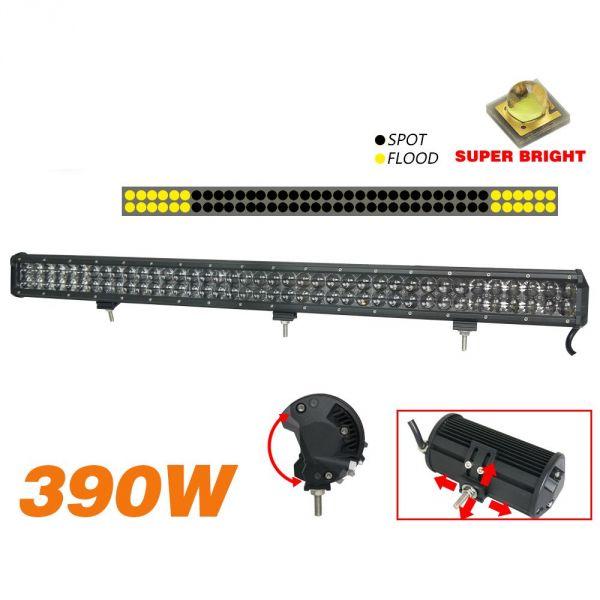 Двухрядная светодиодная LED балка 3D линза - 390W OSRAM