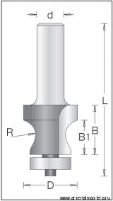 Концевая профильная горизонтальная фреза DIMAR 1550039