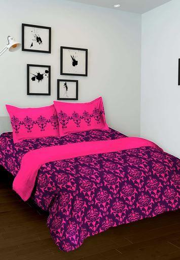 Фиолетовое индийское покрывало с наволочками (отправка из Индии)