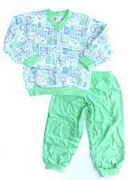 Пижама детская теплая из байки Бемби 130815