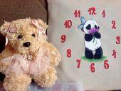 Схема для вышивки крестом Часы Пушняшки Pink. Отшив