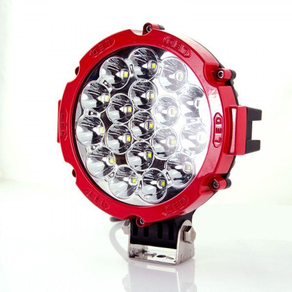 Круглая светодиодная LED фара дальнего света 90W
