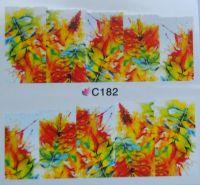 Водная наклейка для дизайна ногтей С 182
