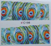 Водная наклейка для дизайна ногтей С 198