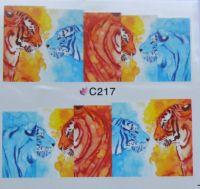 Водная наклейка для дизайна ногтей С 217