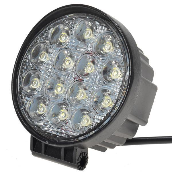 Круглая светодиодная LED фара рабочего света 42W