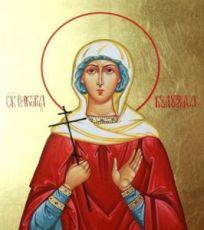 Виктория Кулузская (рукописная икона)