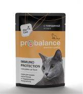 ProBalance Adult Immuno Protection Корм для кошек с говядиной в соусе (85 г)