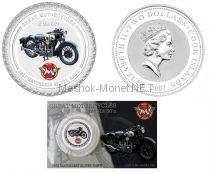 2 доллара 2007 года, Острова Кука, Серия Мотоциклы 30-х, Мотоцикл Matchless Silver Hawk