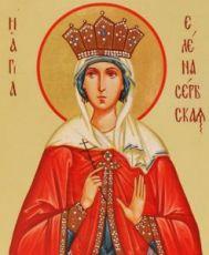 Икона Елена Сербская (рукописная)