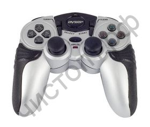 "Геймпад DVTech ""JS55 Shock Jet"" (серебро) PC/PS2"