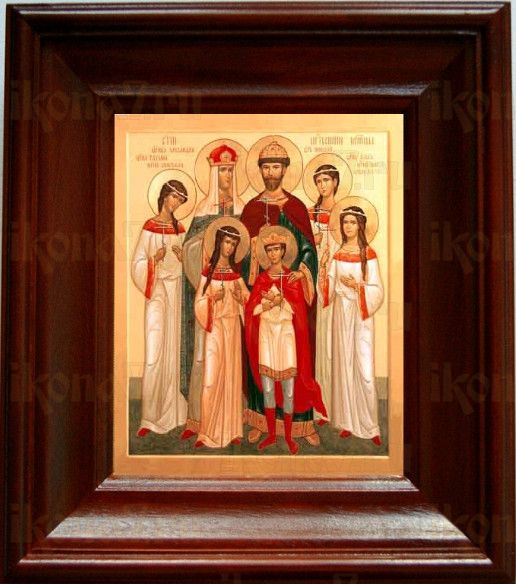 Царская семья (21х24), простой киот