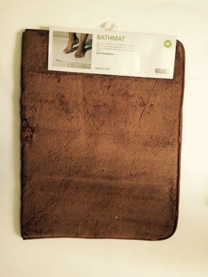 Smart Microfiber Коврик для ванной комнаты 80 х 50 см коричневый