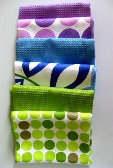 """Smart Microfiber Полотенца кухонные """"Блеск"""" (2шт.) 40х60, синии"""