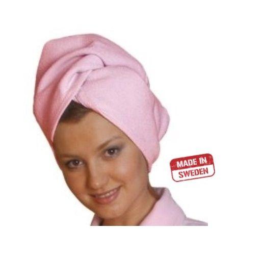 Smart Microfiber Тюрбан для сушки волос розовый