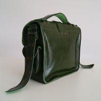 BUFALO U02 GREEN зелёная кожаная наплечная сумка