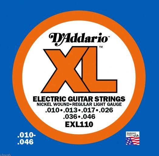 D`ADDARIO EXL-110 (10-46) Струны для электрогитары