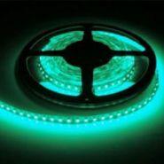 Светодиодная лента в силиконе 3528 12 V 4.8 W 60 LED (диодов) на 1 м зеленая
