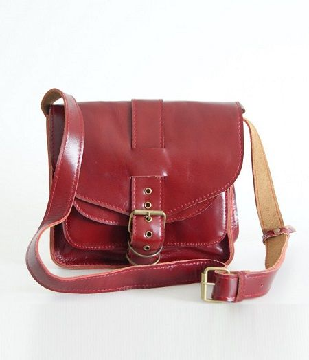 BUFALO U05 RED красная кожаная сумка
