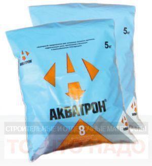 Гидроизоляция АКВАТРОН 8 гидропломба 5 кг