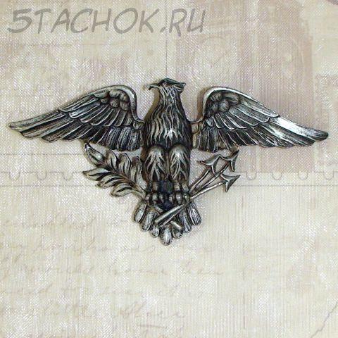 """Брошь """"Орел американской символики"""" под олово"""