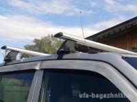 Багажник на крышу SsangYong Actyon / SsangYong New Actyon, Атлант, крыловидные аэродуги, опора Е