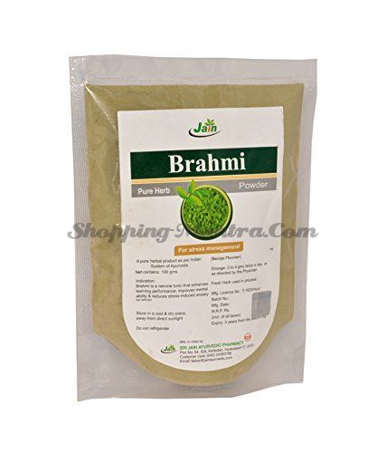 Брами чурна тоник для мозга и нервной системы Джайн Аюрведик / Jain Ayurvedic Brahmi Churna