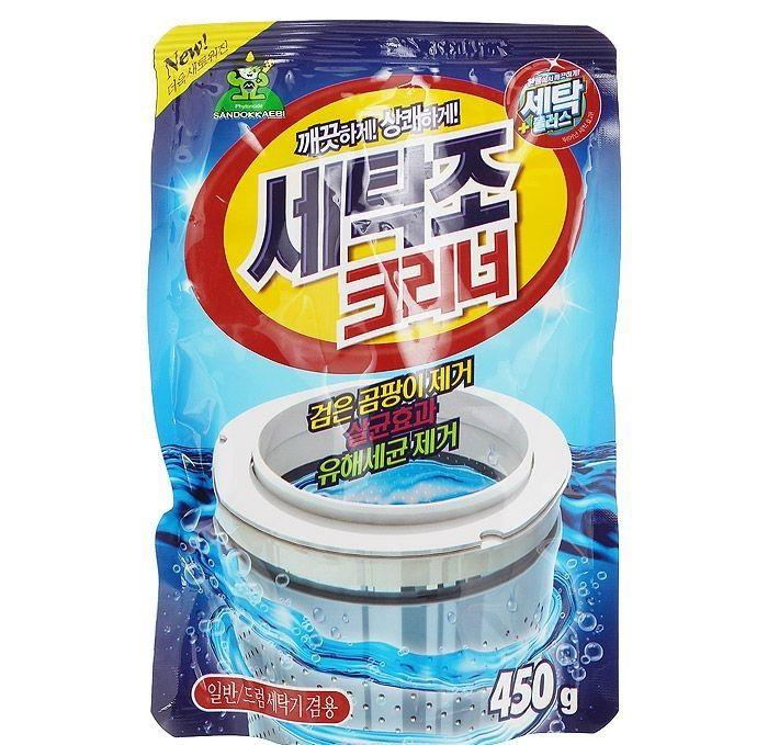 SANDOKKAEBI Se-Plus Средство для чистки барабана стиральной машины (мягкая упаковка), 450 г