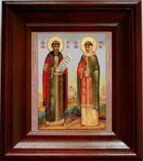 Петр и Феврония (21х24), простой киот