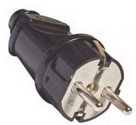 Вилка прямая с/з черная 16А 250В | SQ1806-0004 | TDM