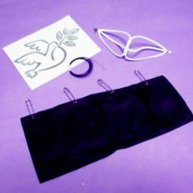 Набор для голубя (шлейка (кожа), сумка, невидимая нить)