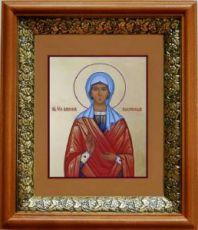 Анисия Солунская (19х22), светлый киот