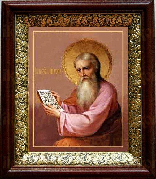 Матфей, апостол (19х22), темный киот