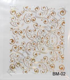 Наклейки 3D BM-02 (золото)