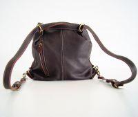 BUFALO TRJ04 BROWN кожаная сумка-рюкзак трансформер